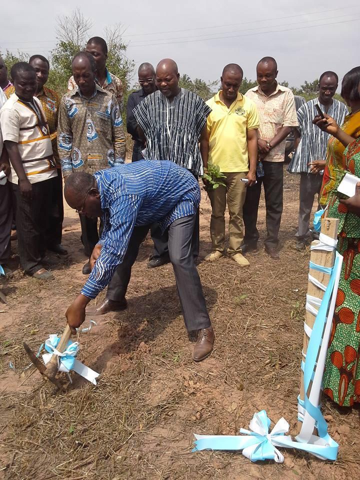 A Sod-Cutting Ceremony of  FUSSAG village at Dwirakyim