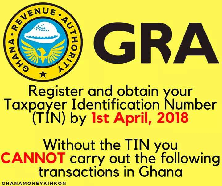 VRA TAXPAYER IDENTIFICATION NUMBER (TIN)
