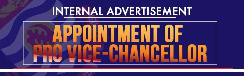 Internal Adverts- Appointment of Pro Vice-Chancellor
